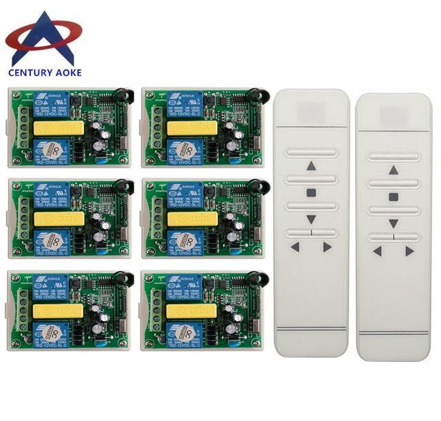 관형 모터 차고 문/프로젝션 스크린/셔터 ac 220 v rf 무선 원격 제어 스위치 디지털 디스플레이 화면