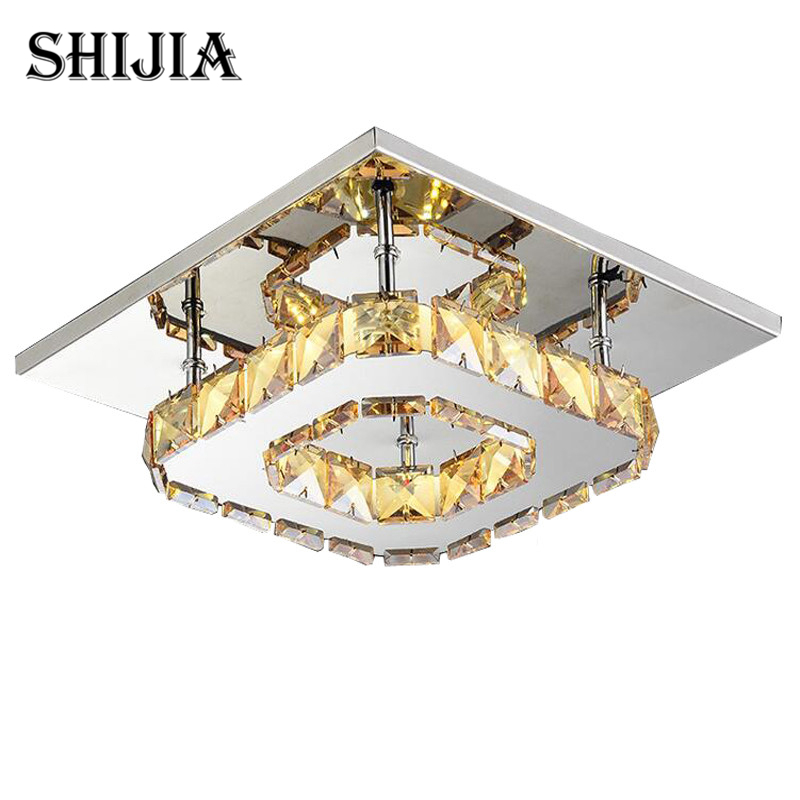 Modern Double layer Crystal LED Ceiling lights Fixture Indoor Lamp lamparas de techo Surface Mounting Ceiling Lamp For BedroomModern Double layer Crystal LED Ceiling lights Fixture Indoor Lamp lamparas de techo Surface Mounting Ceiling Lamp For Bedroom