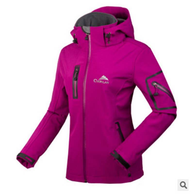 цена 2018NEW Outdoor Jacket Women Softshell Jacket Waterproof coat Windproof with fleece Thermal Antistatic Hiking trekking