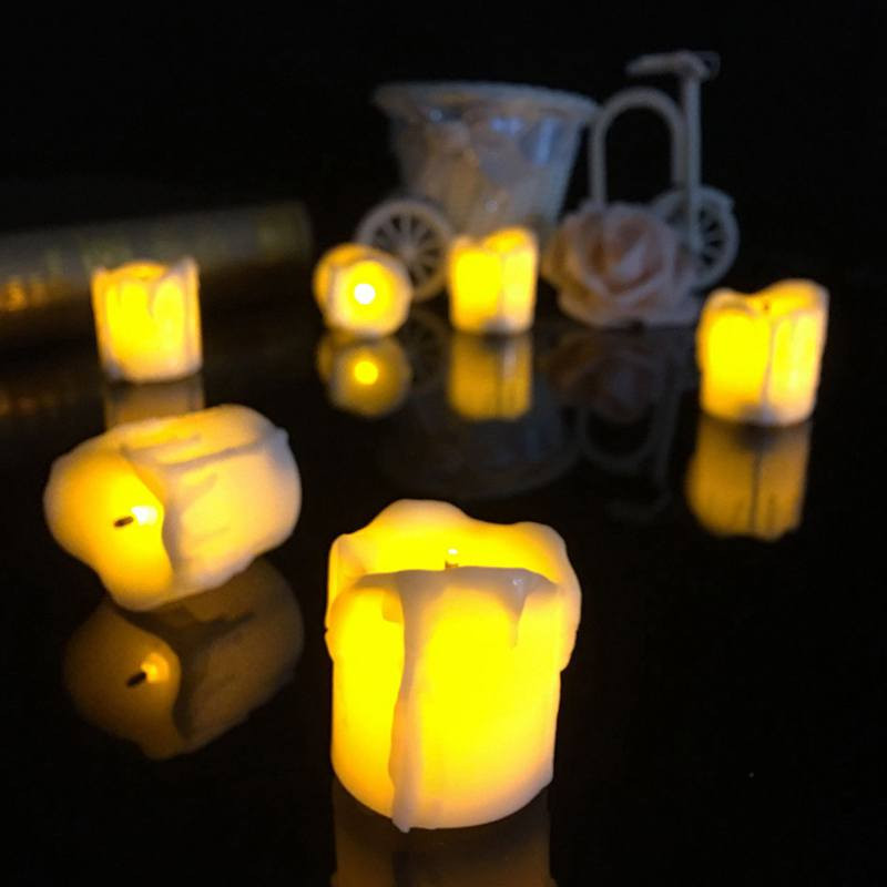 Electronic Candle LED Light Bulb Lamp Flicker Battery Operated Flameless Tea Candles Wedding Christmas Party Safety Decor