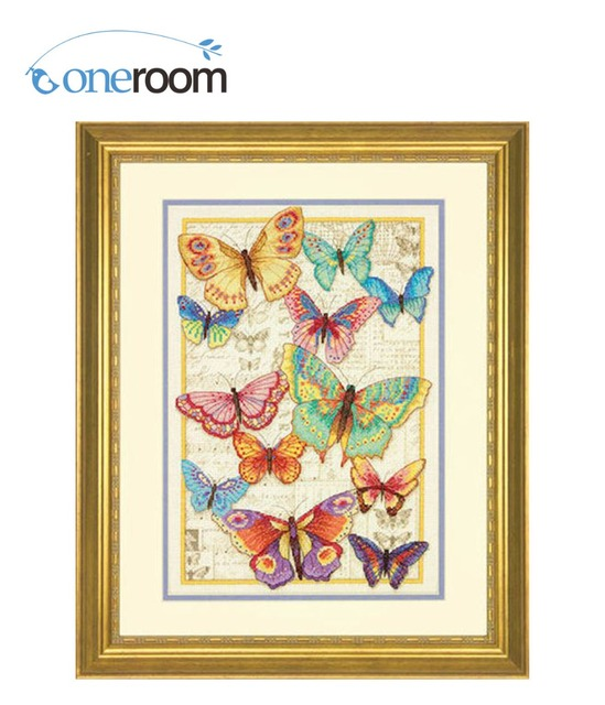 a2aba93f9f7b4 Lovely Gold Collection Counted Cross Stitch Kit Butterfly Beauty Butterflies  Insect dim 70-353383th5338