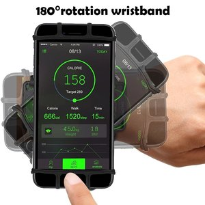 """Image 3 - 100% Wristband Phone Case Holder 180 Rotatable for Running Cycling Gym Jogging Suitable For 3.5"""" 6"""" All Cell Phone"""