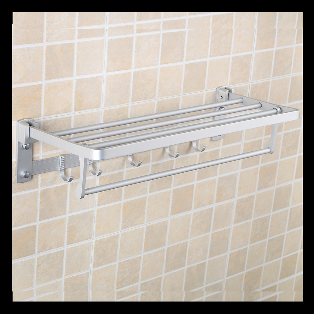ФОТО Free Shipping Wall Mounted Space Aluminium Folding Bath Towel Holder,Towel Rack,Towel Rail,Bathroom Hardware,Wholesale-5899
