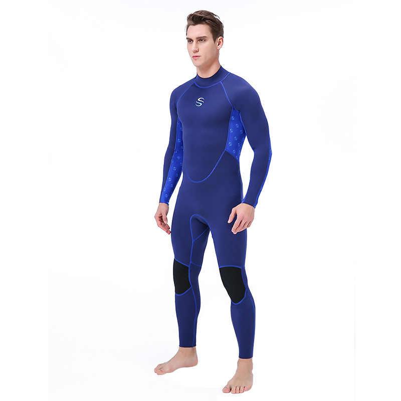 2019 Pria 2 Mm Neoprene Wetsuit Scuba Diving Snorkeling Surfing Renang Hangat Mencegah Ubur-ubur Triathlon Spearfishing Ukuran S-XXL