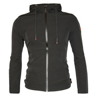 Autumn cap jacket European and American men's jacket with solid color and zipper