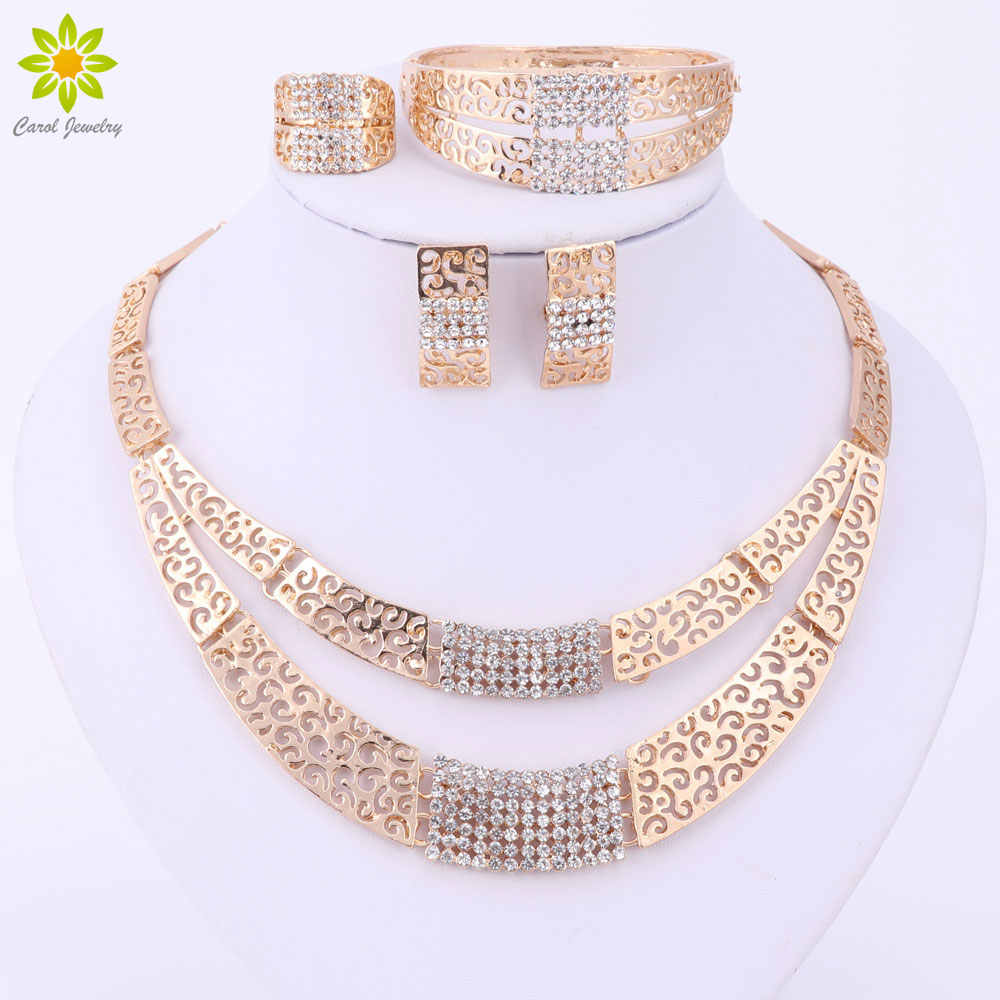 bebc199553 Jewelry Sets Fashion Wedding Accessories African Jewelry Sets Gold ...
