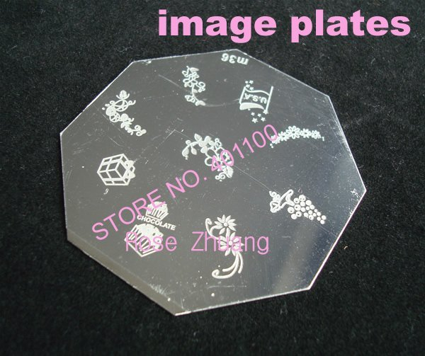 Freeshipping eight-square Stainless Steel Image Plate Nail Art Stamping Plate Wholesales M series SKU:C3126XX