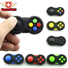 6 Color Cube Game Handle Hand Shank Pad ABS High Quality 9 Function Funny Children Toy Decompression Stress Relief