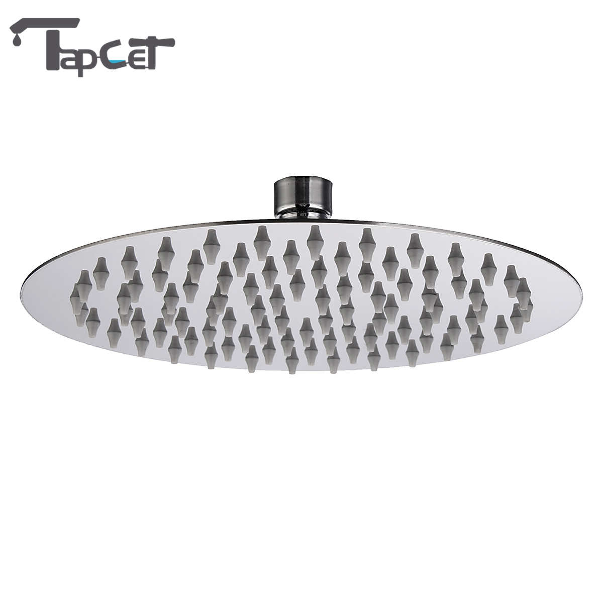 TAPCET 8 Inch Bathroom Rainfall Shower Sprayer Water Saving Stainless Steel Ultra Thin High Pressure Shower Head Top Over Head