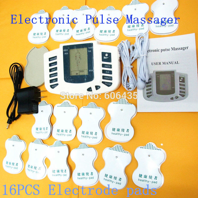 JR309 Health Care Electrical massageador Tens Acupuncture Therapy Machine Slimming Body Stimulator Sculptor massager 16pcs pads jr309 health care electrical muscle stimulator massage tens acupuncture therapy machine slimming body massager 16pcs pads gloves