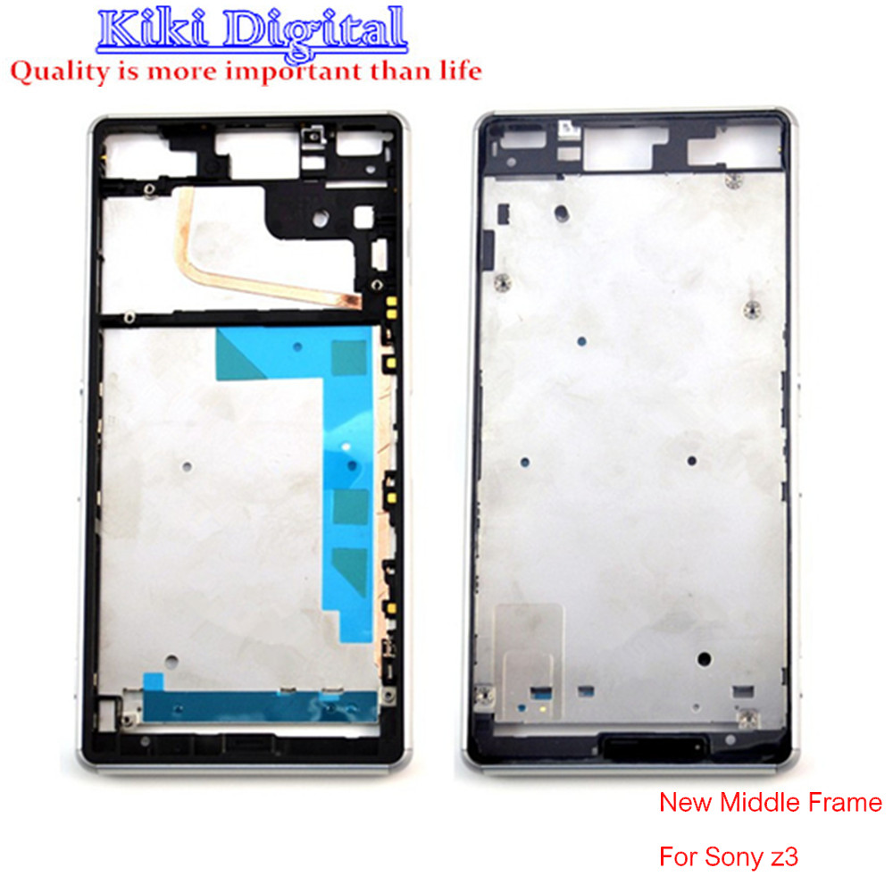 100 Original New Frame middle bezel cover For Sony For Xperia Z3 D6603 D6643 Housing chassis