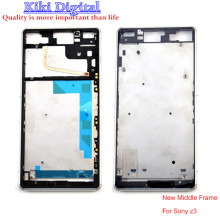 100% Original New Frame middle bezel cover For Sony For Xperia Z3 D6603 D6643 Housing chassis frame Single sim