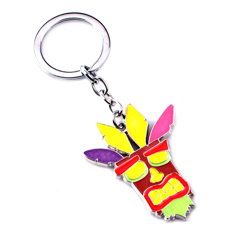2019 New Crash Bandicoot Game Key Chains for Men Women Cosplay Dog Keychain Male Anime Jewelry Key Holders Keyring Souvenir in Key Chains from Jewelry Accessories