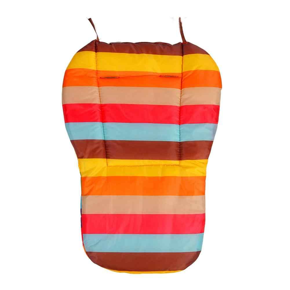 Double face arc-en-ciel imperméable bébé poussette siège coussin coloré doux matelas calèches siège Pad poussette tapis accessoires