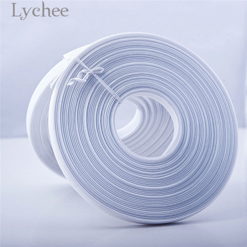 Lychee 5 Yards White Polyester Plastic Boning Sewing Wedding Dress Fabric DIY Sewing Supplies Accessories