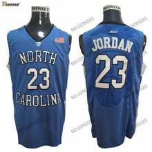 DUEWEER Mens North Carolina Tar Heels Michael Jordan College Basketball  Jersey New Blue 23 Michael Jordan cc807635d