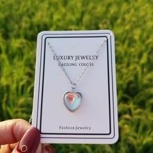 Новое сердце ожерелья с лунным камнем и кулоны для женщин модные 925 пробы серебряные ювелирные изделия ключицы цепи