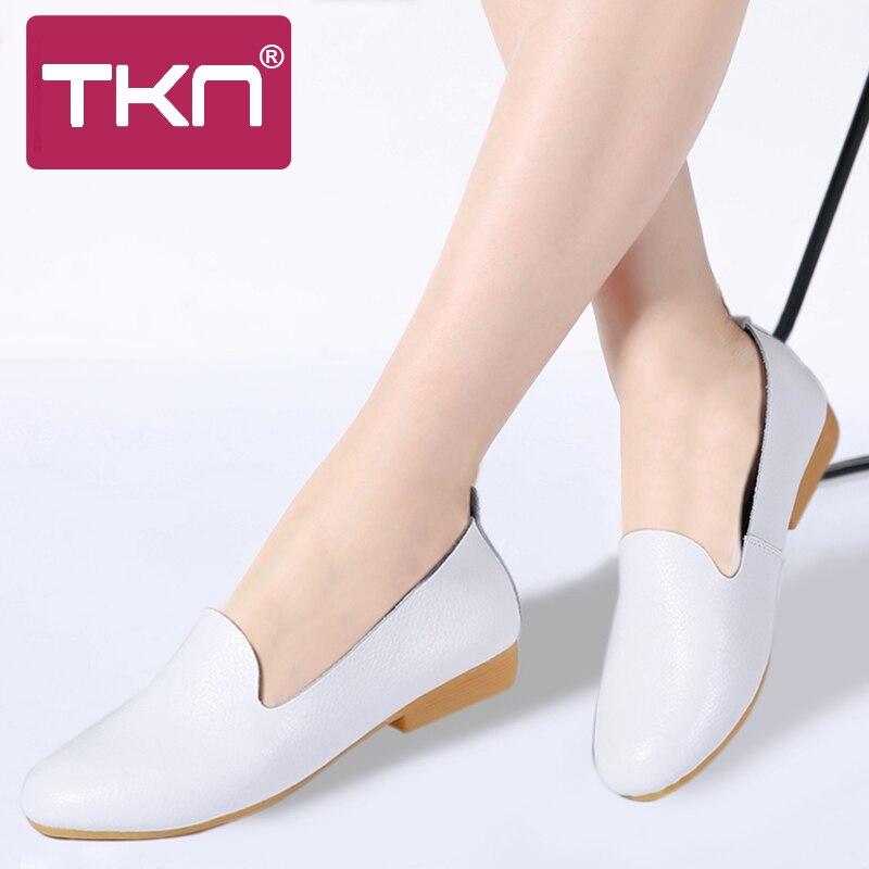 White Femmes 2018 Ballerine Sur 1708 Pour Ballerines Blanc Glissent Des Tkn Infirmière Sneakers Oxford Black 1708 Automne Chaussures gvbI76yYf