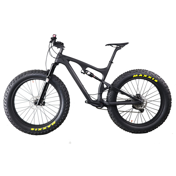 Carbon Full Suspension Fatbike 26er Mountain Bike