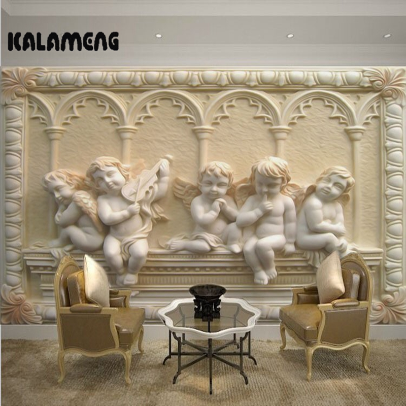 KALAMENG Custom 3D Wallpaper Design European Angle Photo Kitchen Bedroom Living Room Wall Murals Papel De Parede Para Quarto european 3d wallpaper moroccan style wall stickers waterproof kitchen toilet decoration classical pattern living room murals