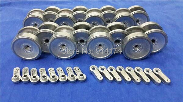henglong 3818 3818-1 German Tiger 3819 3819-1 German leopard 1/16 RC tank upgrade parts metal wheels hub set mato 1 16 metal road wheels set late version for heng long 3818 1 1 16 rc german tiger 1 tank upgrade parts sturmtiger