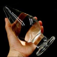 16cm 7 5cm Huge Glass Butt Plug Anal Plug Large Transparent Crystal Clean Big Anal Plug