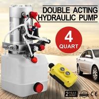 Double Acting Hydraulic Pump 12v Dump Trailer 4Quart Metal Reservoir for Dump Trailer