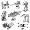 Полный Набор Star Wars Металла Головоломка DIY Ассамблеи R2D2 X-Wing Тысячелетия AT-AT Эсминец Droid Tie Fighter Империи Эсминец 3D Головоломки