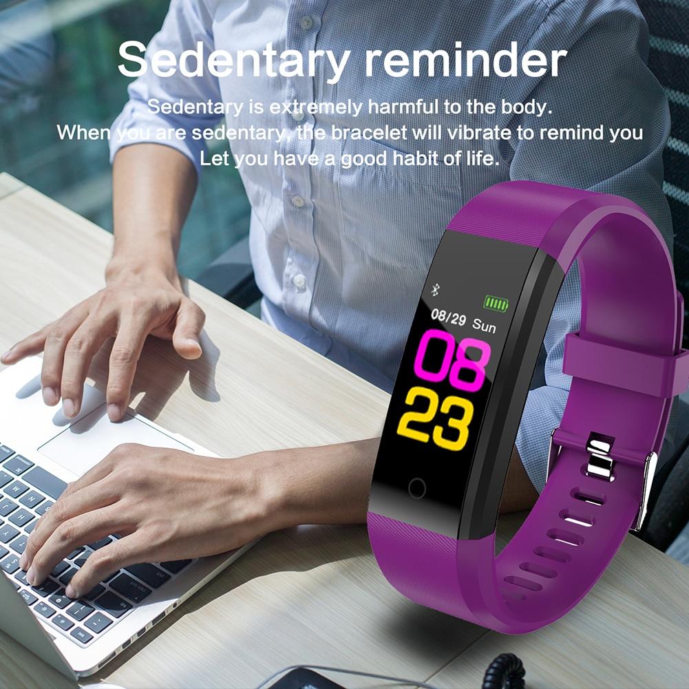 ID115 Plus Smart Fitness Schrittzähler Armband Herz Rate Gesunde Tracker Assistent Blutdruck Armbänder Für Frauen Männer