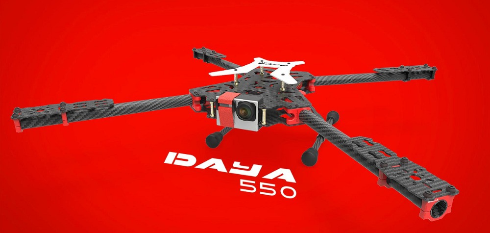2016 new version DAYA-550 550mm PCB Alien Carbon Fiber Folding 4 Axis FPV Quadcopter Frame Kit цена
