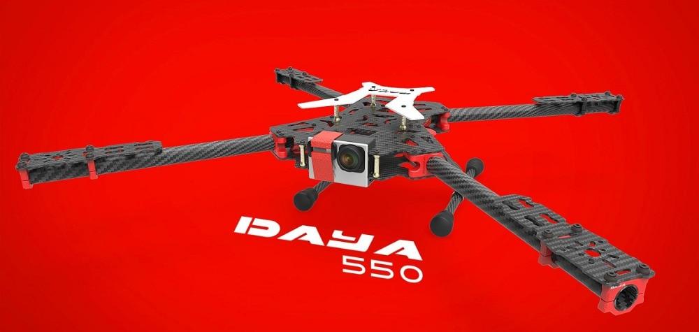 2016 new version DAYA-550 550mm PCB Alien Carbon Fiber Folding 4 Axis FPV Quadcopter Frame Kit h4 450mm 680mm carbon fiber folding fpv alien quadcopter aircraft frame kit