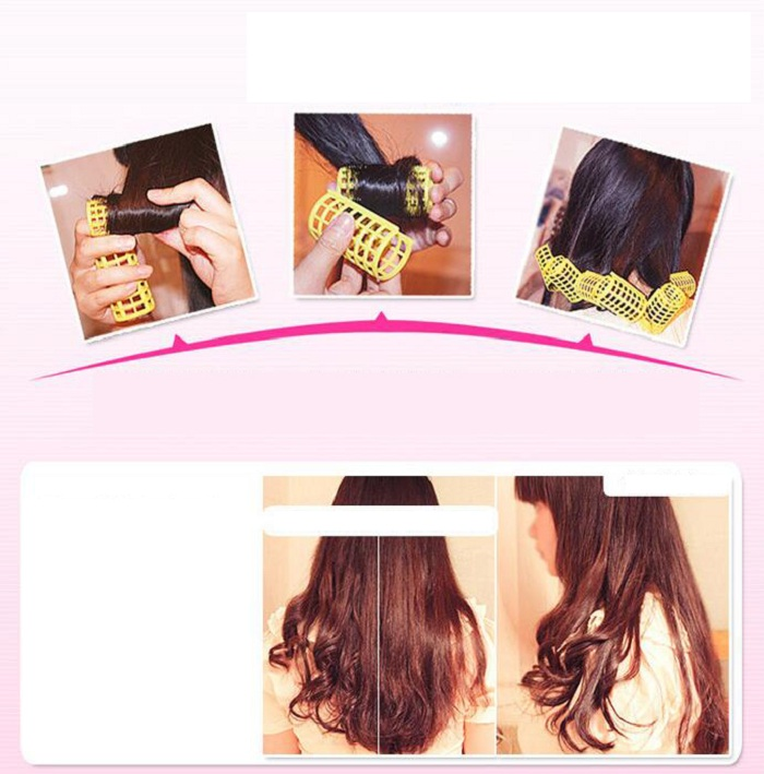 36mm hair curler Roll roller Twist Hair Care Styling stick DIY tools harmless safe plastic for lady female Extra large wh