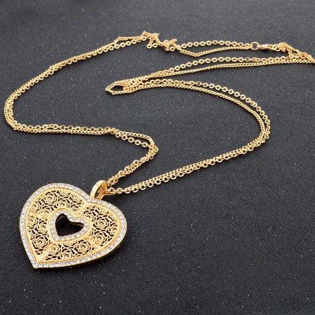 Фото chicvie love длинные золотистые теплые подвески и ожерелья для