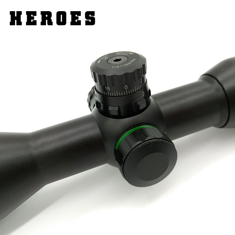Heroes hunting 6X32  Riflescope red green cross reticle optical scope sight for rifle with 11mm or 20mm ring new 4x32 optical zoom red and green cross sight riflescope hunting gunsight for gun camera bird waching