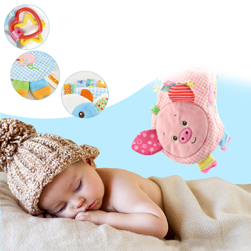 TOLOLO Baby Clam Plush Comforter Doll Towel Rattles Infant Multifunction Toys YH-17