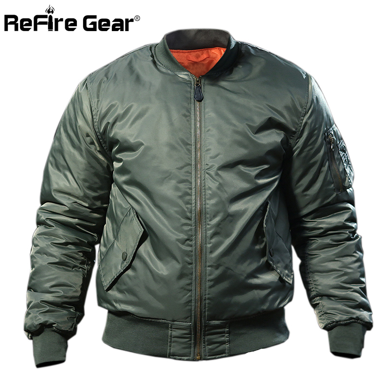 4ad341fe7 US $33.27 36% OFF|MA1 Army Air Force Fly Pilot Jacket Military Airborne  Flight Tactical Bomber Jacket Men Winter Warm Aviator Motorcycle Down  Coat-in ...