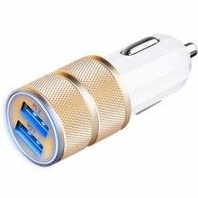 Kongyide 2.1A 24 Вт 2-Порты и разъёмы Smart USB Быстрая зарядка автомобиля зарядное устройство для Зарядное устройство для Iphone 6 6s Plus Ipad автомобиля Зарядное устройство для мобильного телефона