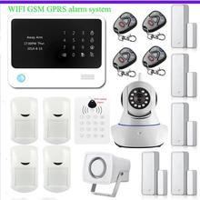 Internet WiFi GSM GPRS SMS OLED Casa de Seguridad del Sistema de Alarma RFID teclado Integrado En Alarma APP Control + Cámara IP wifi App App