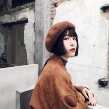 2018 Winter Autumn Caps Woman Solid Color Long Mohair Beret Hats Female Bonnet Cap All Matched Warm Walking Hat