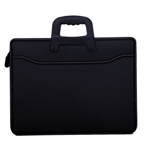 Image 3 - Business custom A4 zipper Men Briefcase Document Bags High capacity Portable File folder/a case for documents /filing