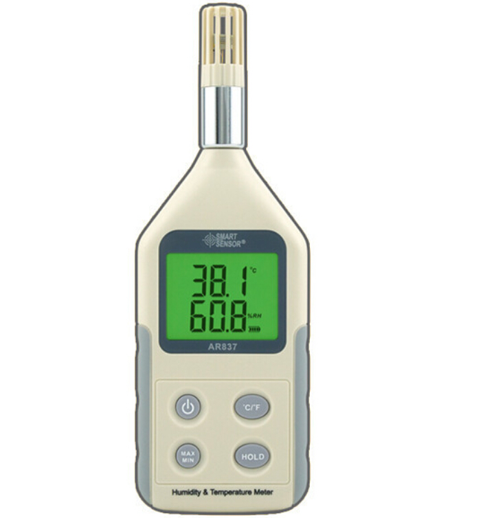 Handheld Humidity Temperature Meter AR837 Digital Hygrometer Thermometer Tester ht 86 digital thermometer hygrometer wet bulb dew point temperature meter o0s0