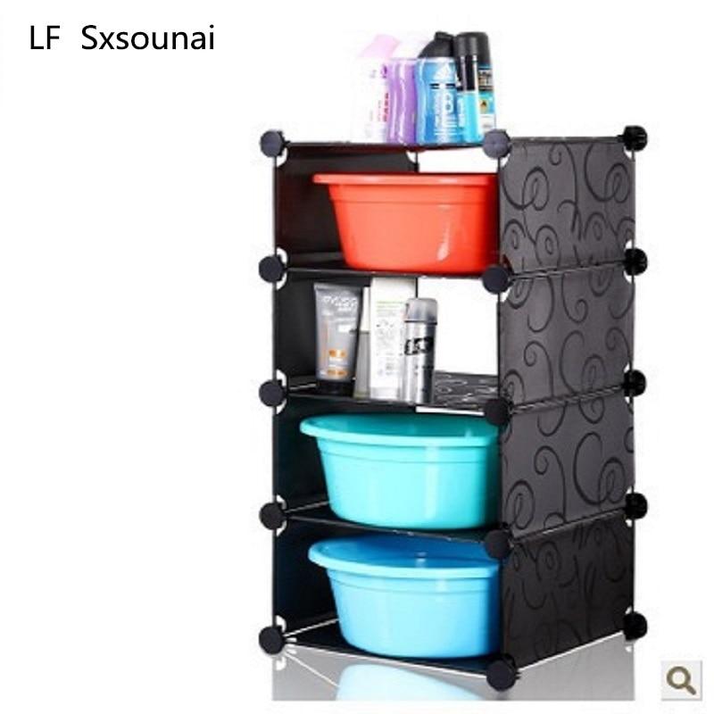 LF Sxsounai protection de l'environnement salle de bain stockage Rack coin lavabo plancher commode étagère cuisine meubles 2018