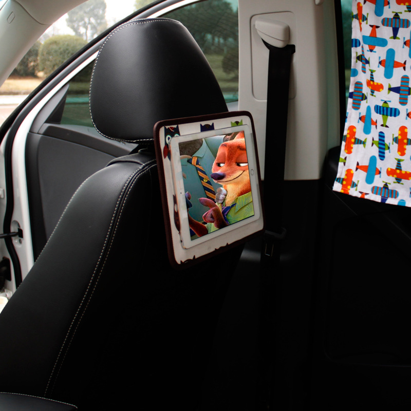 New Arrival car touchscreen chair backpack adjustable angle IPAD mobile phone hanging bag car cartoon bag