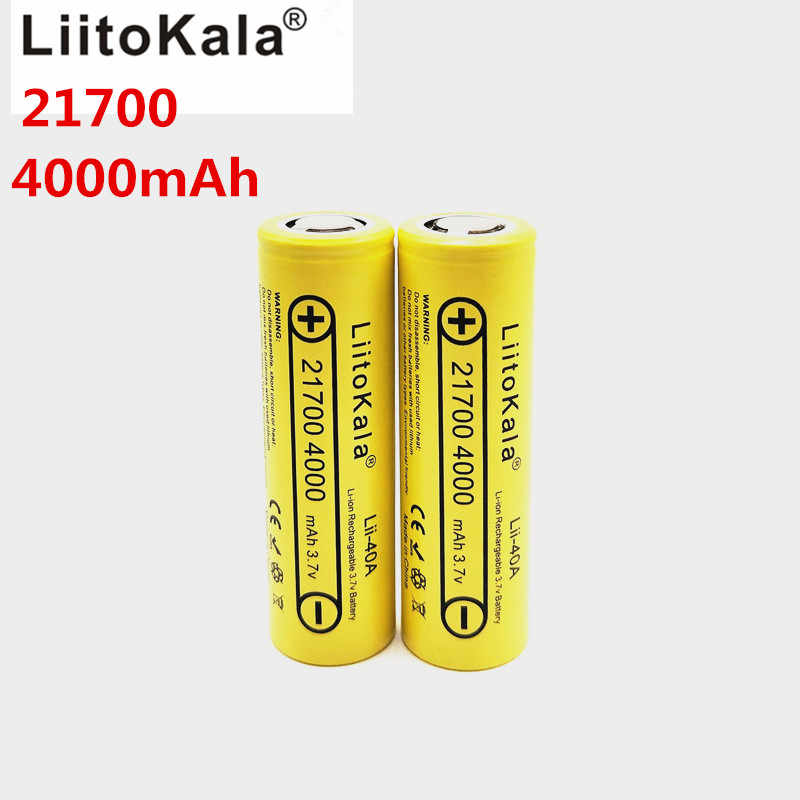 Литий-ионный Li-40A 3,7 V 21700 4000 mAh 14,8 W литий-ионная аккумуляторная батарея с помощью электрического велосипеда