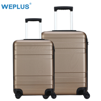 WEPLUS 2PCS/SET Travel Suitcase Business Luggage Hardside Rolling Suitcase with Wheels Carry on Luggage TSA Lock 20 24 Inch