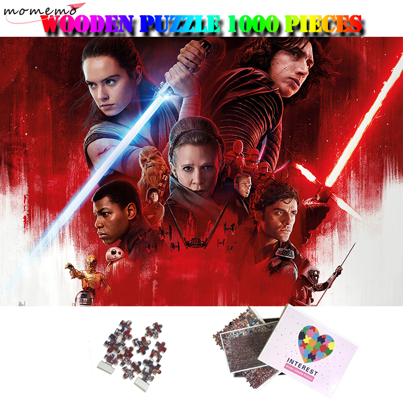 MOMEMO Star Wars Customized Adults Personality Wooden Puzzle 1000 Pieces Classic Movie High Definition 1000 Piece Puzzle Toys