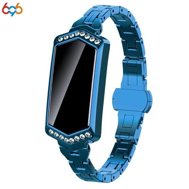 696 B78 Đồng Hồ Thông Minh Smart Watch Nữ IP67 Chống Nước Đo Nhịp Tim Dây Đeo Kim Loại Vòng Tay Thể Thao Dành Cho Android IOS Điện Thoại Vợ Tặng