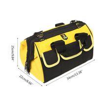 Многофункциональный портативный электрический набор инструментов для ремонта большая емкость сумка из ткани Оксфорд чехол на плечо для сантехника электрика