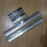 #304 Stainless Steel Car Styling Door Sill Plate Frame Panel Trim Kit 2013 2014 2015 2016 2017 2018 For Toyota RAV4 Accessories