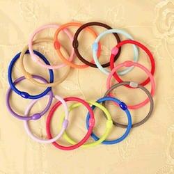 Одноцветное Цвета простые черные эластичные повязки на голову хвост держатели Для женщин аксессуары для волос Головные уборы 100 шт./компл